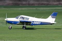 G-BBBY - 1973 build Piper PA-28-140 Cherokee, rolling for departure on Runway 26R at Barton (egcc) Tags: 287325533 barton cherokee cityairport egcb gbbby ledburyflyinggroup lightroom manchester pa28 pa28140 piper