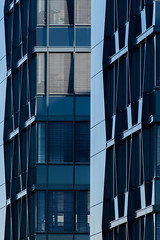 Blue Facade (Récard) Tags: abstract architecture architektur glas steel facade blue geometry