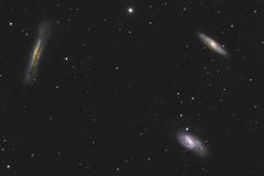 Leo Galaxy Triplet (Daniel McCauley) Tags: galaxy leo constellation triplet m65 m66 ngc3628 messier galaxies astrophotography astrophoto astropix nebula nebulae spring nighttime