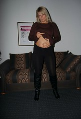 Feeling flirty (ajaypenn) Tags: belly stomach aroused sweater sexual horny selfloving mature mother blonde