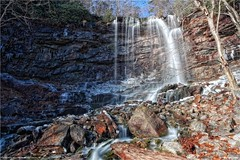 Onoko Falls (Main Falls) - Carbon County, Pennsylvania (The Dark Side Observatory) Tags: tomwildoner onoko glenonoko onokofalls jimthorpe carboncounty pennsylvania water waterfalls waterfall nature outdoors hiking hike environment mountains rocky red blue ice snow winter december 2018