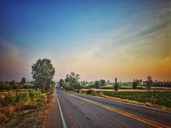 My way home (Nateerasak) Tags: southeastasia northeast colorful road landscape asia mahasarakham thailand