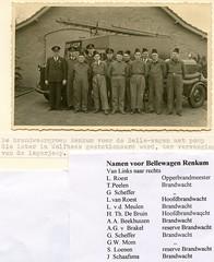 Renkum Brandweergroep voor Bellewagen met namen Foto ca 1955 Collectie Kees Klaver (Historisch Genootschap Redichem) Tags: renkum brandweergroep voor bellewagen met namen foto ca 1955 collectie kees klaver