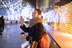 Woman meeting frind at Christmas night (Apricot Cafe) Tags: ap2a8075 asia asianandindianethnicities christmas christmastree japan japaneseethnicity minatoward roppongi sigma35mmf14dghsmart tokyojapan capitalcities carefree casualclothing christmasdecoration christmaslights citylife citystreet coatgarment coffee colorimage consumerism cup enjoyment hand happiness headphones illuminated leisureactivity lifestyles night oneperson onewomanonly onlywomen outdoors people photography realpeople scarf shopping shoppingbag sideview sitting smiling toothysmile waistup waving winter women youngadult