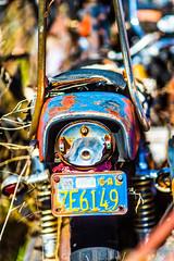 After the Strain of a Slow Hard End (Thomas Hawk) Tags: allbikesales america arizona phoenix rye usa unitedstates unitedstatesofamerica bicyclejunkyard bikejunkyard junkyard motorcycle motorcyclejunkyard payson us fav10