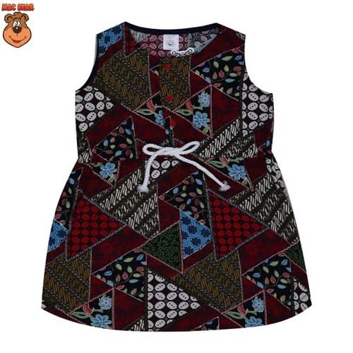 PENAWARAN bo3-1804 macbee kids baju anak dress batik red - size 2 merah salem