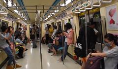 On the Train (earthdog) Tags: 2018 nikon d5600 nikond5600 18300mmf3563 businesstravel travel taipei taiwan transit masstransit publictransit taipeimetro taipeimassrapidtransit mrt people train