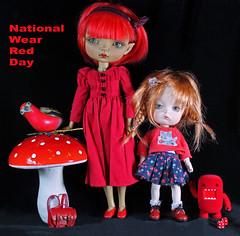 Scarlet women (bentwhisker) Tags: dolls bjd resin maskcat gladys secretdoll mongvol3 5544 nationalwearredday