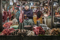 Butcher in Myitkyina Market, Kachin State, Myanmar (Daddi Andrea) Tags: myanmar burma burmese birmania asia southeastasia asian asean travel street streetphotography tourism portrait people