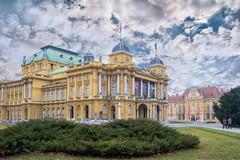 (Yvan Rouxel) Tags: cityofzagreb croatia january nationaltheatre wpcroatia winter zagreb hrv