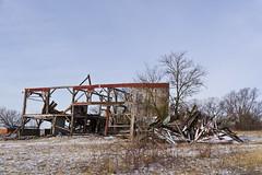 Barn Bones (ramseybuckeye) Tags: dilapidated barn old falling down decay allen county ohio rural farm winter snow