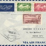 Via Air France 1938 Lebanon to France Cover,