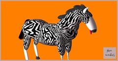 Zebra- Flea Market (clarissastring) Tags: zebra secondlife avatar carnival flea market