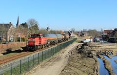 DB Cargo 6411 @ Delden (Sicco Dierdorp) Tags: db dbc cargo serie6400 ketelwagen keteltrein bediening elementis servo klk kolb delden goor hengelo zutphen