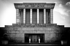 Ho Chi Minh Mausoleum. Hanoi, Vietnam (ravalli1) Tags: hanoi vietnam mausoleum hochiminh southeastasia blackandwhite travel vacations 2018 soldiers