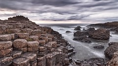 Giants Causeway (captures.in.time) Tags: britain uk greatbritain landscape landscapephotography seascape seascapephotography shore beach sea waves sky drama bush wind sun motion lee 6stop littlebigstopper canon canonphotography 6d eos6d giant giantscauseway northern northenireland ireland rock volcanic volcano geology