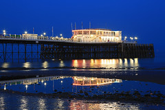 2018_05_06_0264 (EJ Bergin) Tags: sussex westsussex landscape worthing sunset beach sea seaside worthingpier seafront bluehour southernpavillion reflection