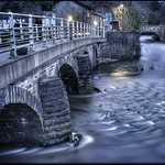 The river Ogden flowing into the Irwell. thumbnail