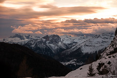 Good Night (whitenoisephotography1) Tags: dolomites dolomiti veneto itaaly north cold snow mountains peaks forest orange sunset quiet silence landscape