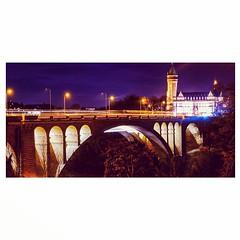 Luxembourg by night (joannab_photos) Tags: architecture bridge lights night luxembourg longexposure