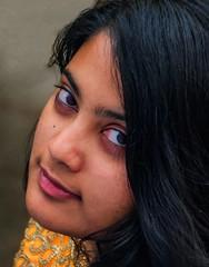 """Beauty isn't about having a pretty face...."" (Bhuvan N) Tags: portrait portraits portraiture people beauty beautiful pretty beautifulgirl youngwoman yellow headshot closeup nikon tamron flickr eyes naturallight retrato india"