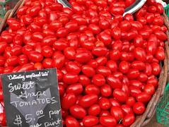 NOT CHERRY FLAVORED JELLY BEANS (Rob Patzke) Tags: red market produce tomato lx100 panasonic lumix