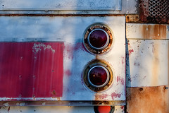 busted stuff (jtr27) Tags: dscf3768xl jtr27 fuji fujifilm fujinon xt20 xf 50mm f2 f20 rwr wr old antique vintage patina bus taillight maine