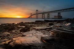 Hope in Broken Dreams (Simmie | Reagor - Simmulated.com) Tags: 2019 bridge claibornebridge claibornepellnewportbridge connecticutphotographer d750 dawn february landscapephotographer lowtide naturephotographer nikon peaceful rhodeisland sunrise taylorpointlookout winter digital narragansett narragansettbay rockybeach water greatphotographers