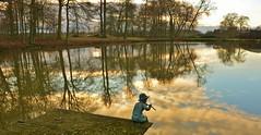 Abaumont - l'étang (jean-paul Falempin) Tags: reflets statue magic moment nikon passion