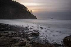 cape meares (Digital-Chromatrix) Tags: gps sunset bw mrc nd filter 30 high tide pnw oregon cape meares ocean water beach incamera long exposure noise reduction rocky