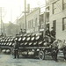 SE Detriot MI Heavily Laden Beer Wagons prepare to leave the Goeble Brewery to quench the thirst of late 19th century Detroiters