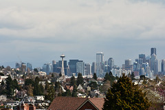 Early Spring Seattle Views 9 (C.M. Keiner) Tags: seattle washington usa city cityscape skyline mountains pacific northwest puget sound spring trees blossoms urban magnolia streetscape cherry