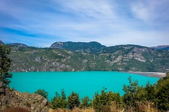 Amazing turquoise lakes near Villa Cerro Castillo in Chile.