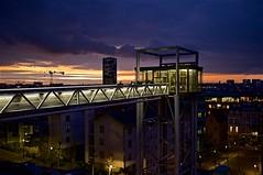 Coucher de soleil sur la ville (mifranc91) Tags: bâtiments bruxelles ciel clouds fuji lumières nuages nuit sky ville x100