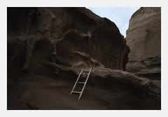 (merkanani) Tags: minimal valley desert evening darkness ladder