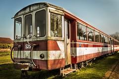 Train (~ Jessy S ~) Tags: train old vintage nikon d750 nikkor 18105 sky blue red rouge grass vert green herbe rails