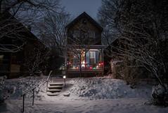 Snow Magic (Dorret) Tags: winter snow sprookjesachtig sprookje sneeuw baltimore maryland city urban night dark lights snowman 2019 dorret fairytale storybook mood