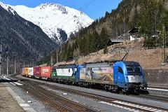 1216 910 + 193 720, TEC 40531. Mallnitz-Obervellach (M. Kolenig) Tags: lte 1216 tauernbahn berg schnee