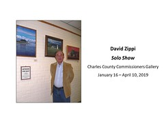"David Zippi - Solo - Charles County Commissioners Gallery January 16 - April 10, 2019 • <a style=""font-size:0.8em;"" href=""https://www.flickr.com/photos/124378531@N04/46737920102/"" target=""_blank"">View on Flickr</a>"