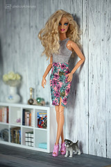 claudia with robby (photos4dreams) Tags: photos4dreams p4d photos4dreamz barbie doll dress mattel toy barbies girl play fashion fashionistas outfit kleider mode photoshoot outdoor red rot kleid canoneos5dmarkiii canoneos5dmark3 locken blond curls ooak smokeyeyes handpainted handmade handgemacht handbemalt oneofakind dollmakeupartist dolldesigner blonde claudia