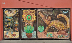 Mural Street Art Oaxaca Mexico (Ilhuicamina) Tags: murals art walls paintings mexican oaxaca animals signs streetart