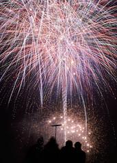 watching Fireworks (Ritchie Patton) Tags: fireworks longexposure colour color light fujifilm x100f spectators glasgow scotland rugbyclub