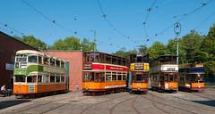 Glasgow Tram Line-Up (ralfedge) Tags: crich england unitedkingdom tramway museum tram glasgow derbyshire