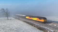 Grids in the fog! (mark.latham@ymail.com) Tags: jackgreen class56 colas 56090 56049 6e32