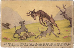 Bambi (1942) (Truus, Bob & Jan too!) Tags: bambi waltdisney walt disney animation vintage film cinema kino cine picture screen movie movies postcard postkarte carte postale cartolina tarjet postal postkaart briefkarte briefkaart ansichtskarte ansichtkaart rembrandt 1942 dogs superluxe