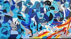 Street art in Paris 14th by Zeky and Katre (Sokleine) Tags: mural streetart street wall mur exterior grandsvoisins artderue urbanart arturbain paris 75014 france zeky bleu blue