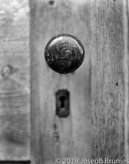 Church Door Detail (Joseph Brunjes) Tags: 2019 brunjes joseph door portal knob film largeformat ulf 11x14 macro chamonix blackandwhite ilford hp5