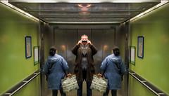 Two Women In An Hospital Lift (Elevator) With Full Human Head Masks In Their Damien Hirst Bags (brancusi7) Tags: twowomeninanhospitalelevatorwithfullhumanheadmasksintheirdamienhirstbags absurd art allinthemind awkward brancusi7 bizarre collage culturalkitsch culturalrelations christianserialkillersprisonartclub dadapop damesofdada prescriptiondruginduced dreamdiary eyewitness eidetic exileineden ersatz evolution eye fetish globalsoapoperareality ghoulacademy gaze haunted hypnagogia hypnopompic insomnia identity intheeyeof innerspace insecurityconsultants illart interplanetary johnseven jung joker kitschhorror kitschculture loneclownofthepharmaceuticalplain mythology mirror neodada odd oneiric obsession popsurrealism popkitsch popart phantomsoftheid popculture random rorschach strange schlock trashy taboo timetravel underground unknown vernacularculture visitation victorianvalues visionary weird