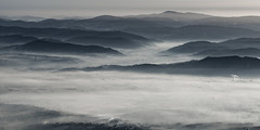 a short story about the fresh atmosphere (ignacy50.pl) Tags: landscape monochrome mountains panoramic fog foggy smoke chimneys atmosphere poland