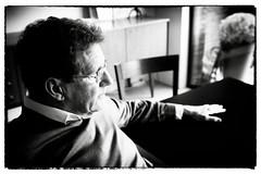 yep , zondag (roberke) Tags: portrait portret male man mature availablelight daglicht daylight indoor blackwhite blackandwhite bw zwartwit model monochroom pose face gezicht